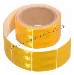 Samolepící páska reflexní dělená 5m x 5cm žlutá, bílá, červená (role 5m)