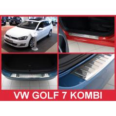Nerez kryt- sestava-ochrana prahu zadního nárazníku+ochranné lišty prahu dveří VW Golf VII kombi 2012-16