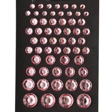 Dekorativní broušené kamínky růžové 59 ks s podlepením