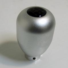 Hlavice řadící páky type-r stříbrná s červeným nebo modrým podsvícením