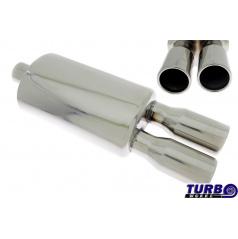 Sportovní výfuk TurboWorks dual kulaté koncovky