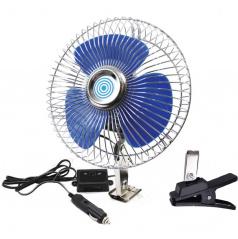 Ventilátor 12V otočný +klips