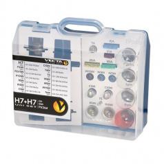 Box žiaroviek MEGA UNI 12V H7 + H7