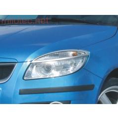 Kryty světlometů Milotec (mračítka) ABS stříbrný Škoda Roomster / Fabia II