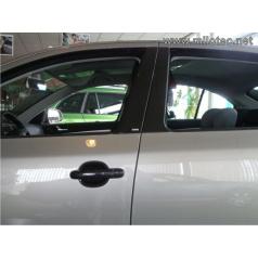 Kryty dveřních sloupků - ABS černá metalíza, Škoda Octavia II Combi, Škoda Octavia II Facelift Combi