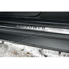 Bmw X5 (E70) 05-10 - NEREZ chrom prahové lišty - OMSA LINE