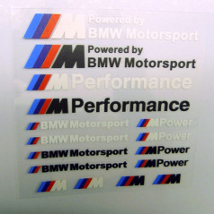 Sada samolepek BMW M POWER 16 ks