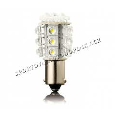 24 LED oranžové žiarovky jednovláknové Ba 15S 21W 2 ks