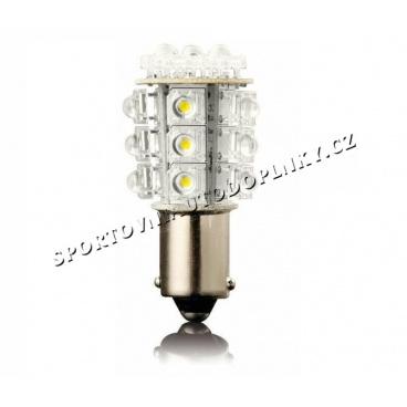 24 LED oranžové žárovky jednovláknové Ba 15S 21W 2 ks