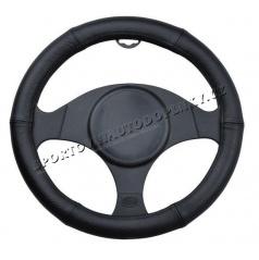 Potah na volant černý kožený (3 velikosti)
