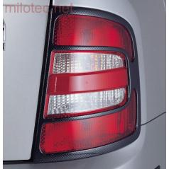 Kryty zadních světel Milotec (masky) - ABS karbon, Škoda Fabia I Combi/Sedan