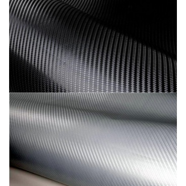 3D Karbonová fólie černá a stříbrná