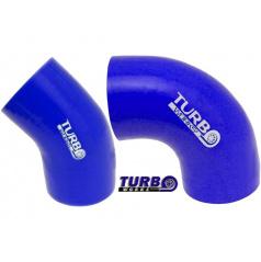TURBOWORKS silikonové koleno 45°a 90° modré