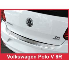Nerez kryt- ochrana prahu zadního nárazníku Volkswagen Polo V 6R 2014+