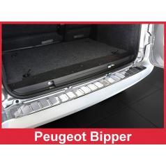 Nerez kryt- ochrana prahu zadního nárazníku Peugeot Bipper 2007+