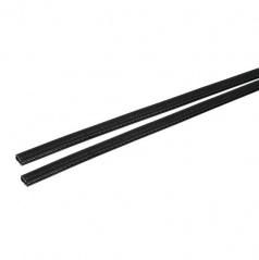 Velmi odolný chránič hran dveří černý 2x65 cm