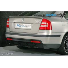 Škoda Octavia II Difuzor zadního nárazníku - černý desén