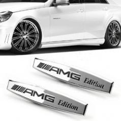 Znak Mercedes AMG kovové chrom provedení- 1 ks