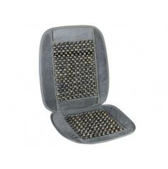 Potah sedadla s kuličkami šedý lem 93x44cm