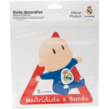 Originální samolepka Dítě v autě s logem Real Madrid