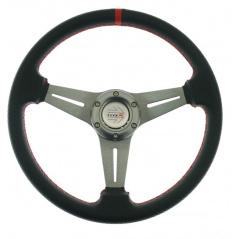 Sportovní volant černý karbon R 350 mm