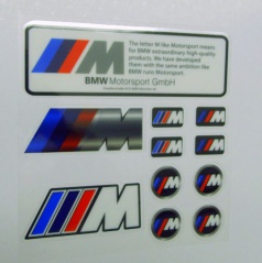 Sada samolepek BMW M POWER 11 ks
