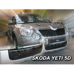 Zimní clona - kryt chladiče Škoda Yeti 5 dveř. 2009 + (spodní)