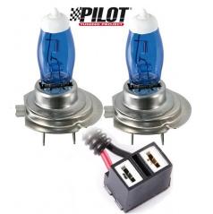 Žárovky H7 100W Pilot Xenium Race - 2 ks + navíc 2 parkovací žárovky
