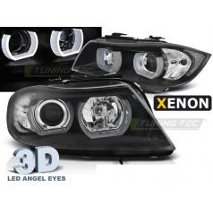 BMW E90/E91 03.2005-08.2008 přední čirá světla 3D U-Type black HID (LPBMI6)