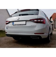 Škoda Superb III spoilery zadního difuzoru ve stylu výfukových koncovek RS