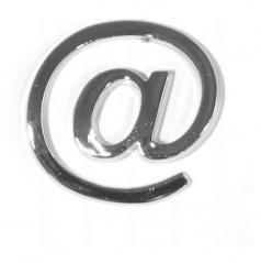 Znak @ PLASTIC samolepící