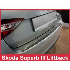 Nerez kryt- ochrana prahu zadního nárazníku Škoda Superb III liftback 2015-16