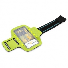 Elegantní reflexní držák smartphonu na paži 8 LED zelený