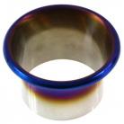 Nerez nasávač vzduchu, nebo zadní difuzor 102 mm titan vzhled