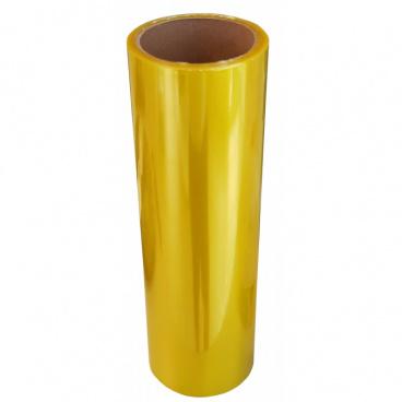 Transparentní fólie - žlutá  100x30 cm