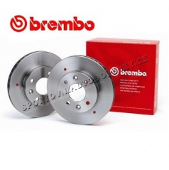 BREMBO HLADKÉ KOTOUČE ZADNÍ HONDA CIVIC VIII  1.8i 16V 2006+ (asian applications) (260mm) 2KS