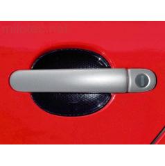 Kryty klik plné, ABS stříbrný (2+2 ks jeden zámek), Roomster