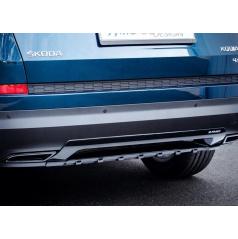 "Dummy - koncovky výfuku, ABS - černý lesklý ""klavírlak"" - Škoda Kodiaq"