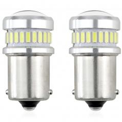 Led žárovka canbus bílá 24SMD + 3030 6SMD 1156 (R5W, R10W) P21 BÍLÉ 12V/24V