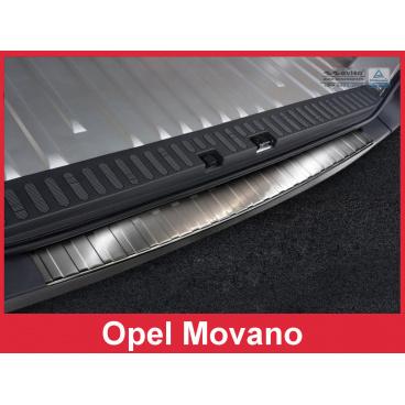 Nerez kryt- ochrana prahu zadního nárazníku Opel Movano 2014-16