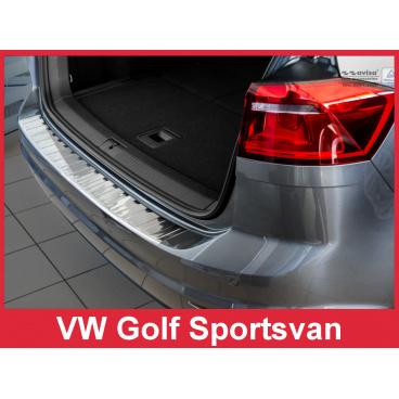 Nerez kryt- ochrana prahu zadního nárazníku Volkswagen Golf Sportsvan 2014+