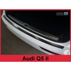 Nerez kryt- černá ochrana prahu zadního nárazníku Audi Q5 II 2016+