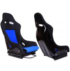 Sportovní pevná skořepina A1 RACING GTR černý/modrý velur