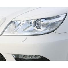 Kryty světlometů Milotec (mračítka) - ABS černý, Škoda Octavia II RS Fac. Lim./Combi 05/09