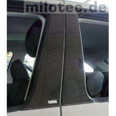Kryty dveřních sloupků ABS černá metalíza, Škoda Fabia I Limousine/Sedan