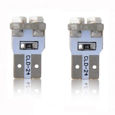 Žárovka 8 LED T10 CANBUS s odporem bílá 2 ks