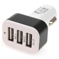 Zástrčka do zapalovače 3x USB výstup 2,1A 2,0A 1,0A 12/24V