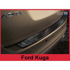 Nerez kryt- černá ochrana prahu zadního nárazníku Ford Kuga I 2008-12