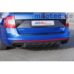 Difuzor zadního nárazníku, ABS černá metalíza Škoda Octavia III RS Limousine / Combi