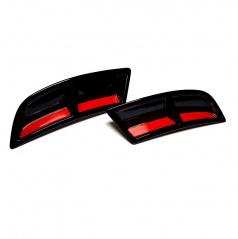 Atrapy výfuku Turbo design v provedení RS230 Glossy black - Glowing red - Škoda Superb III